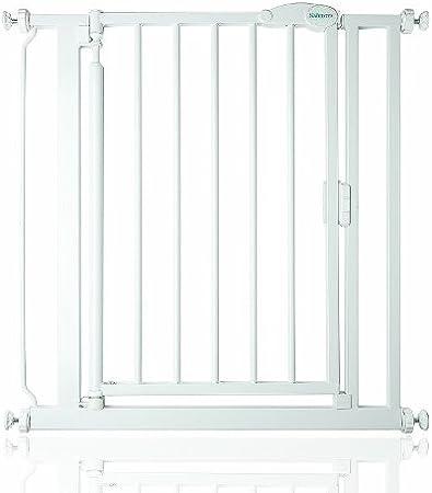 color blanco 132cm 125.5cm Barrera de seguridad con cierre aut/ómatico y extensiones Safetots