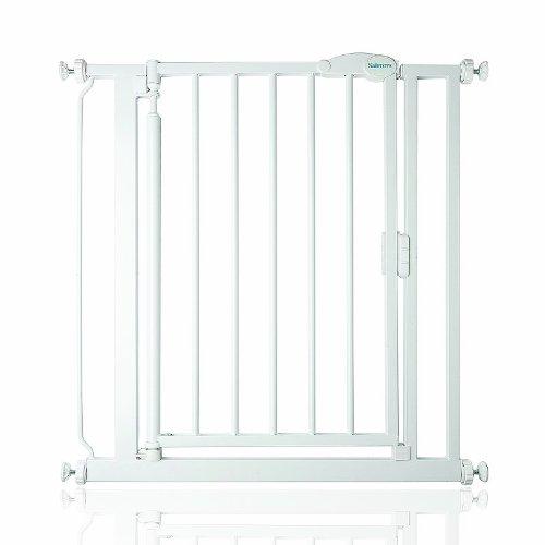 161,2cm Breiten von 75cm safetots selbstschlie/ßend Baby Sicherheit Treppengitter wei/ß mit Erweiterungen