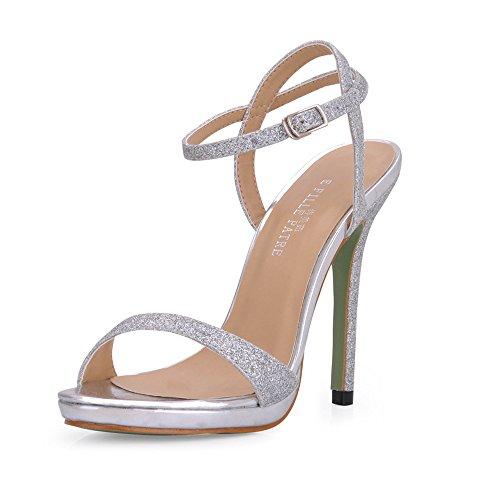 Sandals female summer minimalist banquet women shoes fine with fine high-heel shoes Silver Sands uvrDjR