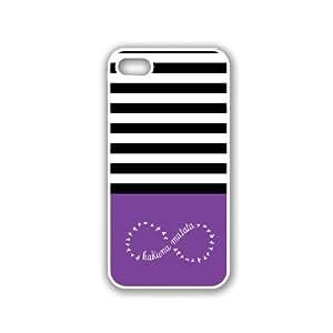 Hakuna-Matata Black Stripes & Purple White iPhone 5 Case - For iPhone 5/5G - Designer PC Case