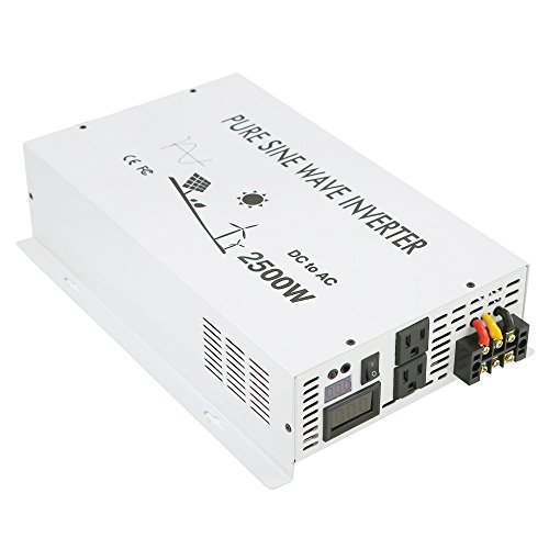 WZRELB DC to AC Converter off Grid Pure Sine Wave Power Inverter Generator (2500w 12v 120v)