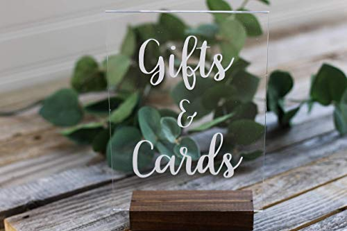 Gifts and Cards Acrylic Sign Stand Included