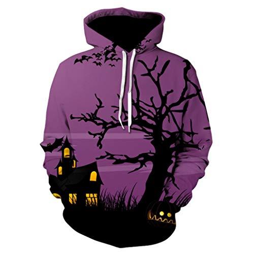 Winter Blouse,Morecome Men Women Mode 3D Print Long Sleeve Halloween Couples Hoodies Top Blouse Shirts