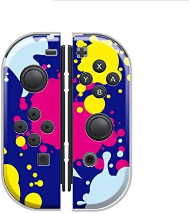 Nintendo Switch ケース 任天堂 スイッチ ジョイコン ケース ハードタイプ 傷から守る インク ink ペンキ ペイント ブルー レッド パープル ネオン ピンク ブラック 赤 青 茶色 人気 かっこいい おしゃれ