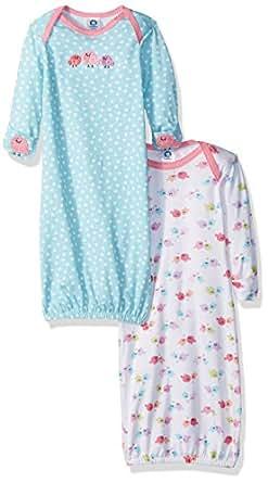 Gerber Baby Girls' 2 Pack Gown, Birdie, 0-6 Months