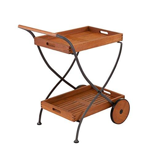 Larson Outdoor Serving Cart (Wrought Cart Patio Iron Serving)