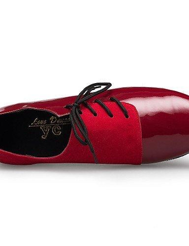 Red Non Flat Shoes Dance Men's Heel black Flocking Customizable ShangYi Tap gqwzpg