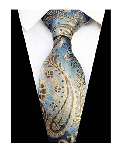 Men Champagne Paisley Tie Neckwear Patterned by Designer Best Gifts for Friends