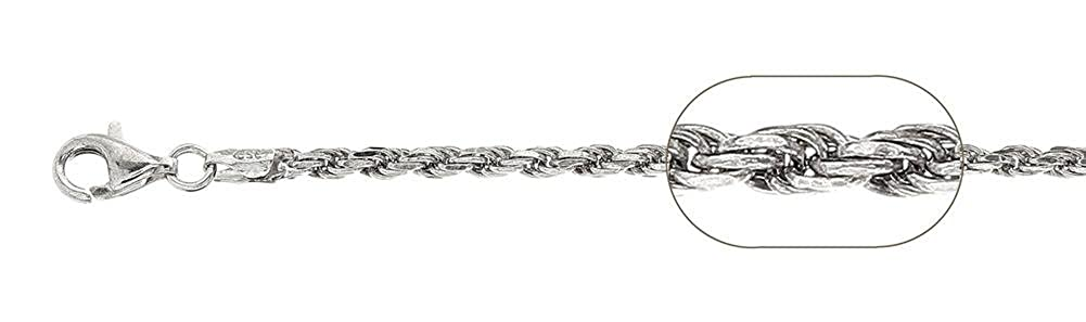 Blue Apple Co Rope Chain 925 Sterling Silver Choose Width//Length