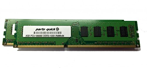 4GB Kit (2 X 2GB) Memory Upgrade for Compaq Presario CQ5320F PC3-10600 DDR3 1333 MHz DIMM Non-ECC Desktop RAM (PARTS-QUICK BRAND) Compaq Presario Desktop Ram