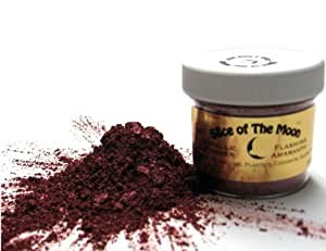 Amaranth Mica Powder 1oz, Metallic Burgundy Powder, Cosmetic Mica, Slice of the Moon