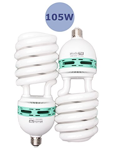 105w Cfl - Fovitec StudioPRO - 2x 105 Watt Daylight Fluorescent Light Bulb - [2 Pack][105W][5500K][CFL][Full Spectrum]