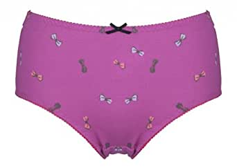 Intimate Portal Women's Jolly Bows Leak Proof Period Panty Red Medium