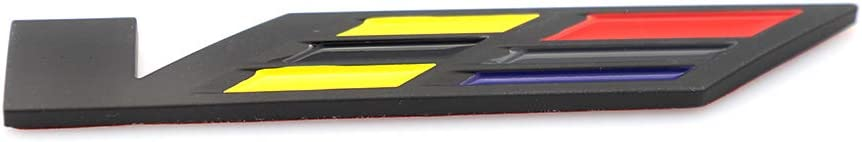 3D For Cadillac V Emblem Car Body Trunk Side Fender Rear For XT5 SRX XTS ATS CTS CTS EXT ATS-L COUPE Hybrid Black