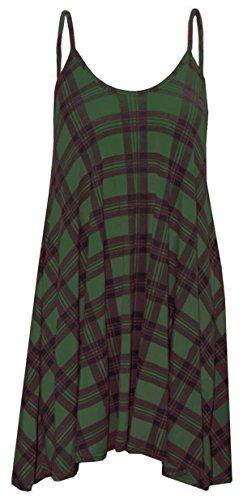 Papaval - Camiseta sin mangas - para mujer Green Tartan