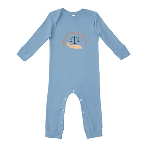 Cute Rascals Attorney Work Product Style 1 Cotton Long Sleeve Envelope Neck Unisex Baby Legged Long Rib Coverall Bodysuit - Light Blue, 6 ()