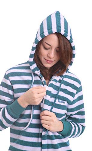Ganzkörperschlafanzug für Erwachsene Onesie Herren Schlafoverall Einteiler Erwachsenenstrampler FUNZEE, körpegrößenabhängige Unisexgrößen in XS-XXL