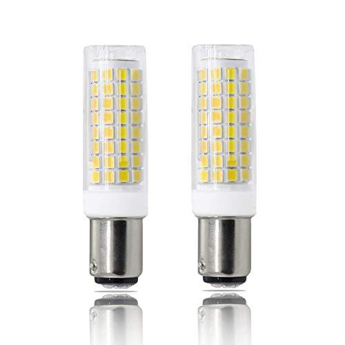 BA15D LED, All-New(102LEDs) Dimmable BA15D Bulb, Double Contact Bayonet Base, 7W White BA15D Bulbs (75W Halogen Bulbs Equivalent), T3 T4 360 Degree Beam Angle (2-Pack) ()