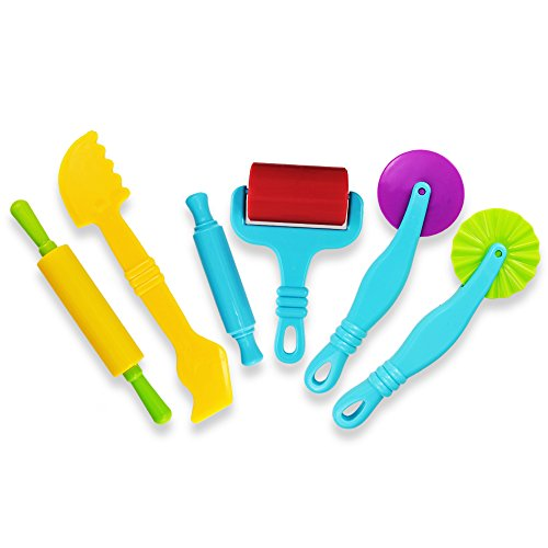 Kids Clay Sculpture - Kuqqi Dough Tools Kit with Models Set for Children Ages 3 and up Set of 6pcs