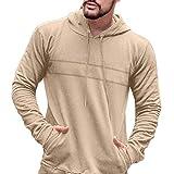canada goose beige - Goddessvan Mens Slim Fit Long Sleeve Lightweight Pullover Hoodie with Pocket