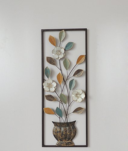 lection Modern Chic Aluminum/ Metal Wall Decor with Frame 12