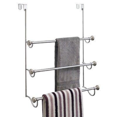 York Metal Over Shower Door Towel Rack