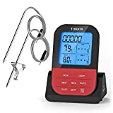 Meat Thermometer, Turata Wireless Meat Thermometer, Instant Read Grill Thermometer with 2 probes