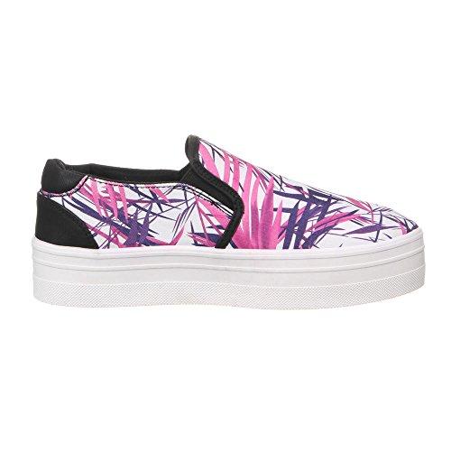 ... Ital-Design Damen Schuhe, 50225, Freizeitschuhe Pink Lila ...
