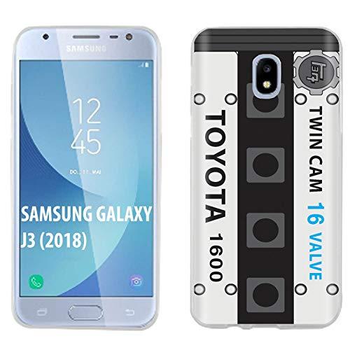 [Mobiflare] Samsung Galaxy J3 2018/Amp Prime 3/Express Prime  3/Achieve/Star/J338 Ultraflex Thin Gel Phone Cover [4AGE AE86 Bluetop 16  Valve Print]