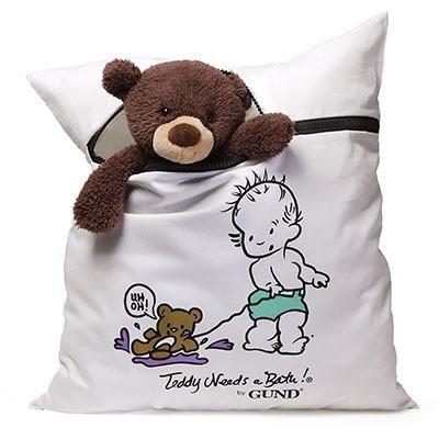 Teddy Needs A Bath! Stuffed Animal Washer & Dryer Bag Lar...