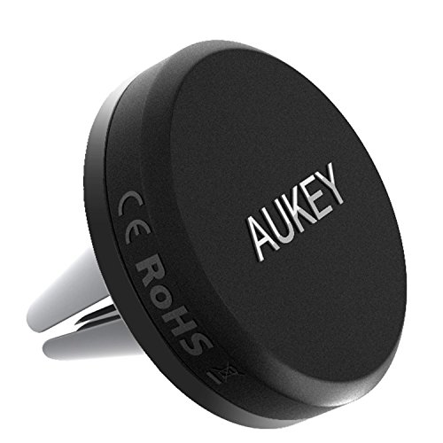 AUKEY Car Phone Mount, Air Vent Magnetic Phone Holder for iPhone X / 8 / 7 / 7plus / 6s, Samsung, LG, Nexus and More