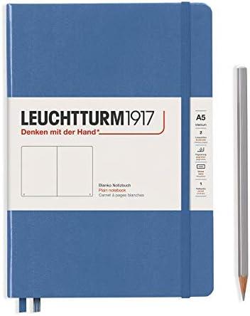 LEUCHTTURM1917 361581 Notizbuch Medium (A5), Hardcover, 251 nummerierte Seiten, Denim, blanko