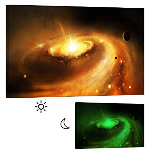 Canvas Glow in the Dark Wall Art Framed Print Supernova