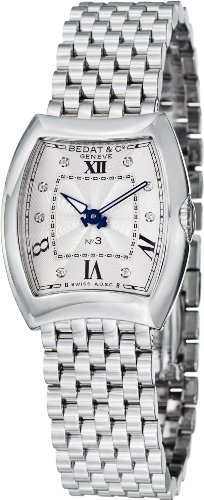 Bedat No. 3 Silver Diamond Dial Stainless Steel Ladies Watch 316.011.109 ()