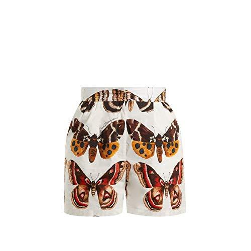同志方言多くの危険がある状況(ドルチェ&ガッバーナ) Dolce & Gabbana レディース ボトムス?パンツ ショートパンツ Butterfly-print cotton-poplin shorts [並行輸入品]
