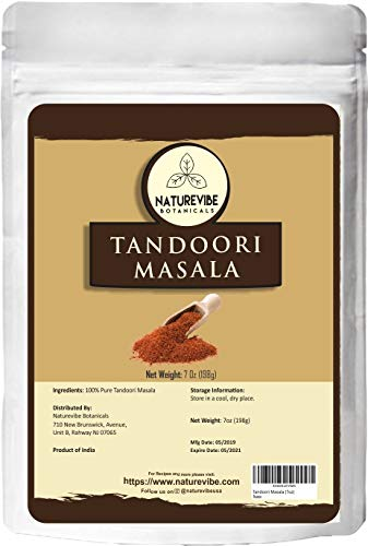 Naturevibe Botanicals Tandoori Masala, 7 ounces (198g) | Non-GMO and Gluten Free | Indian Seasoning | Adds Taste
