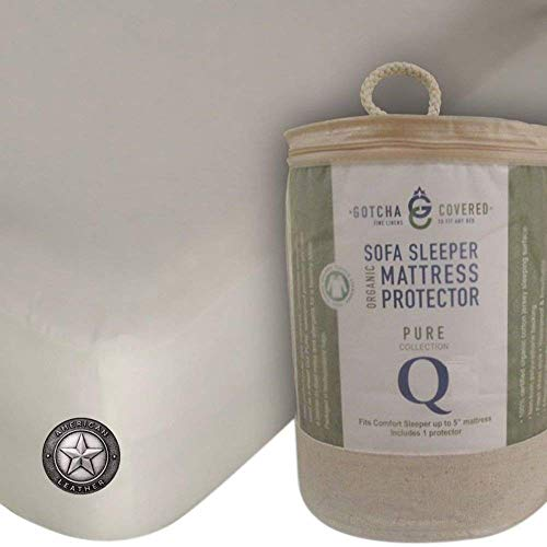 Gotcha Covered 100% Organic Sofa Sleeper Mattress Protector for American Leather Comfort Sleeper - Queen Size