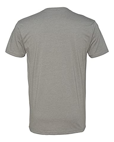 Next Level Apparel 6240 Mens Premium CVC V-Neck Tee - Stone Gray44; Large - Apparel