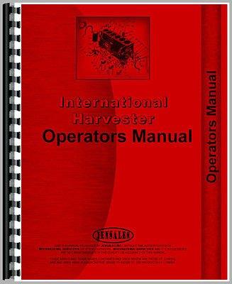 New International Harvester C254 Cultivator Operators Manual