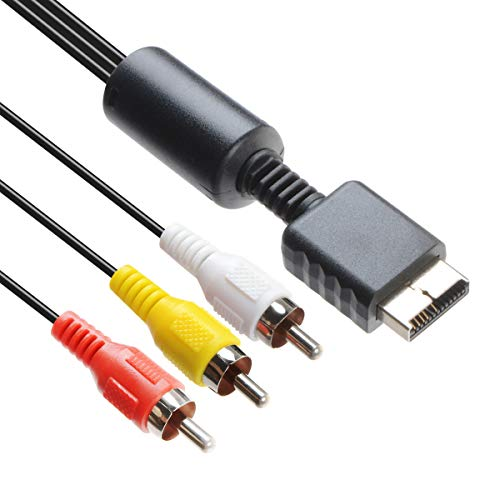 TENINYU Audio Video RCA Cable - Game Console Component Accessories Connection AV Cable for PS1 PS2 PS3 Playstation,6FT (Ps3 Hdmi Av Cable)
