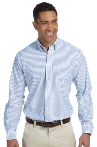 Van Heusen 57800 Mens Classic Long-Sleeve Oxford - Blue & White Stripe, Extra Large ()