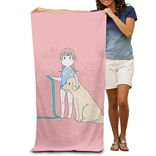 NKIPER Bath Towels Anime Girl Dog 32