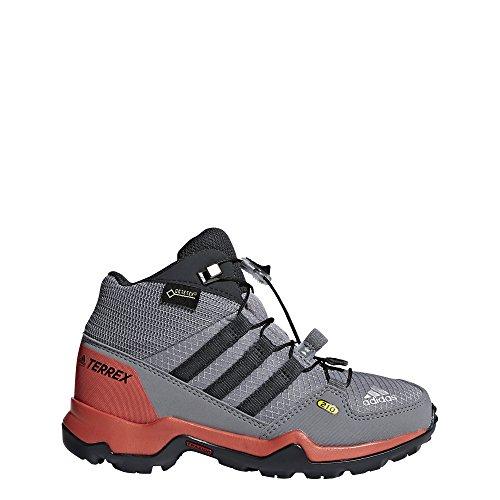 adidas Unisex-Kinder Terrex Mid GTX Trekking-& Wanderstiefel gris/gris/gris carbone