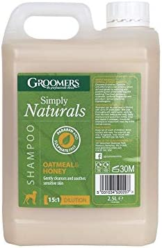 Groomers Simply Naturals Oatmeal and Honey Shampoo 2.5L