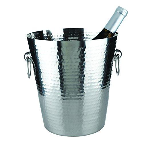 Hammered Metal Ice Bucket by Viski ()