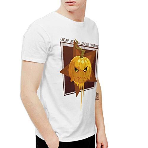 T-shirt Cheap Ass Halloween Costume Pumpkin Men's Round Neck Short Sleeve Tees Tops White -