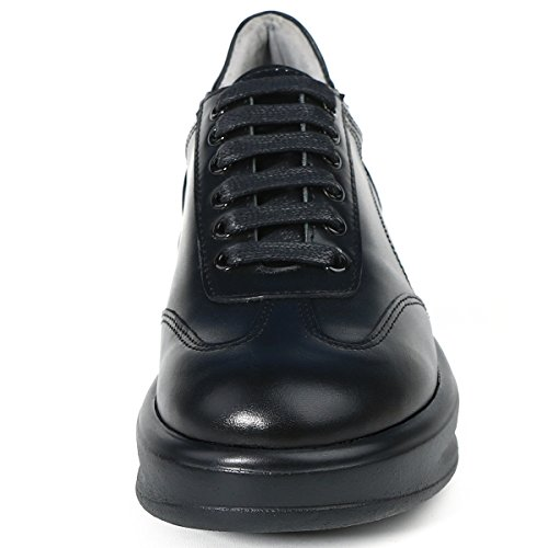 Roseg Mujeres Oxford Lace Up Leather Platform Sneakers