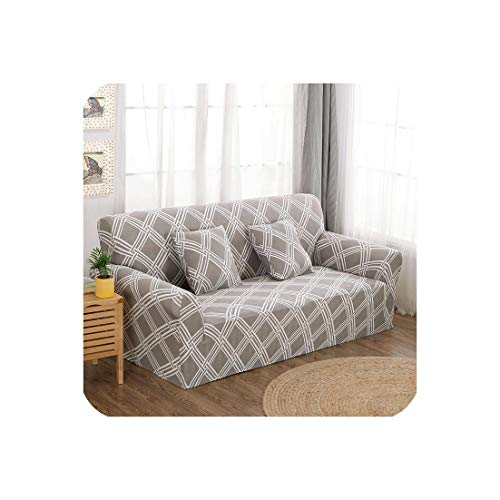 pursuit-of-self Modern Elastic Stretch Sofa Covers for Living Room Sofa Couch Slipcovers 1/2/3/4 Seater Sectional Sofa Covers,Color 19,3-Seater 190-230Cm (8 Seater Dining Table And Chairs Ikea)