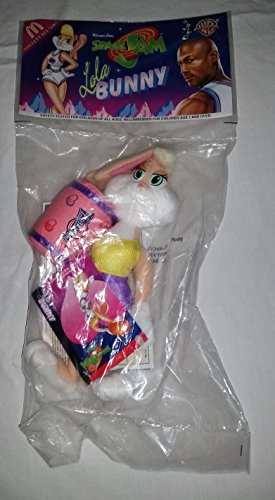 Space Jam Collectibles Lola BUNNY Plush Doll 8in. 1996 issue.. Tagged = Warner (Bunny Plush Doll)