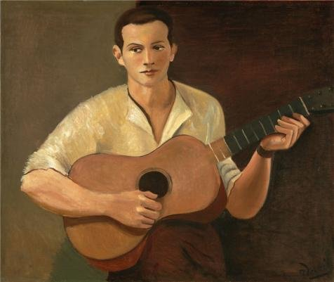 Perfect Effect Canvas ,the Replica Art DecorativeCanvas Prints Of Oil Painting 'Andre Derain,Guitar Player,1928', 30x36 Inch / 76x90 Cm Is Best For Game Room Decoration And Home Gallery Art And ()